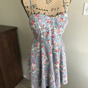 Dresses & Skirts - Floral bustier style fit and flare dress L